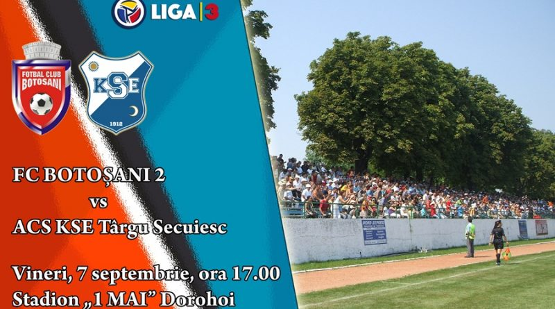 Liga a 3-a: FC 2 Botoșani 0-1 KSE Târgu Secuiesc