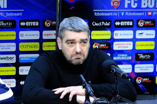 """FC Botoşani – FC Hermannstadt 1-0.  LIVIU CIOBOTARIU:  """"Vreau sa ma bucur de rezultat"""""""