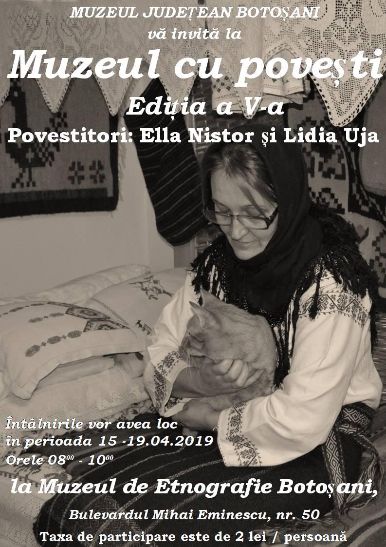 """Muzeul de Etnografie Botoşani desfăşoară a V-a ediție a proiectului educațional intitulat """"Muzeul cu poveşti"""","""