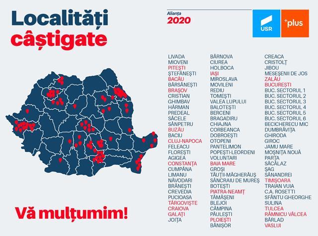USR Botoșani și PLUS Botoșani transmit mulțumiri pentru susținere botoșănenilor
