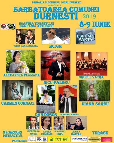Invitație la Zilele Comunei Durnesti. Urmează două zile de sărbătoare în comună