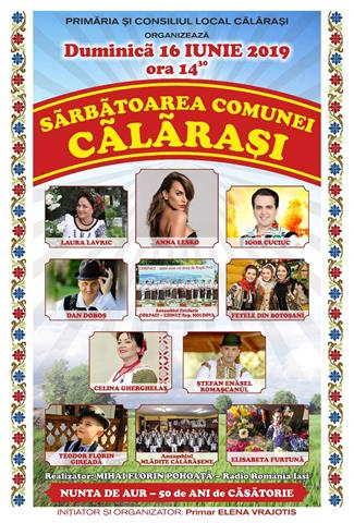 Ziua comunei Călărași a ajuns la  a VIII -a ediţie.   VEZI ce soliști vor evolua la sărbătoarea comunei