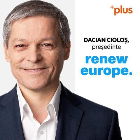 Dacian Cioloș este noul președinte al noului grup de centru din Parlamentul European – RENEW Europe