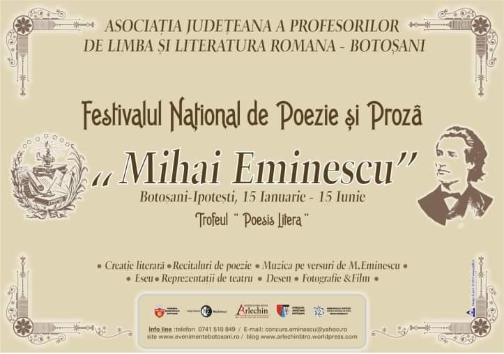 130 de ani de la înălțarea către nesfârșit a marelui poet, Mihai Eminescu. Lansarea Imnului tineretului eminescian la Botosani si la Palatul Culturii din Iasi!