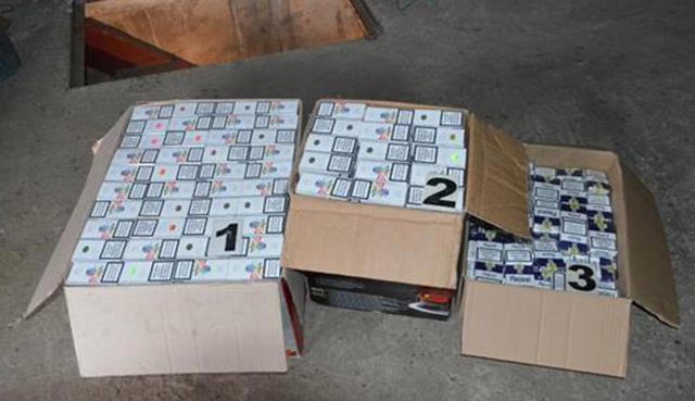 Ţigări de contrabandă transportate cu drona, abandonate în pădure