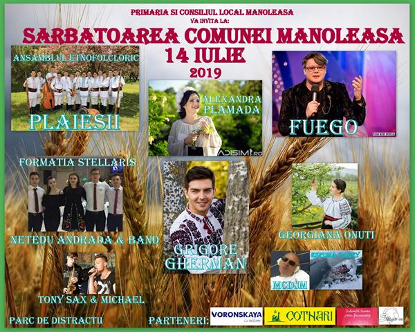 Sărbătoarea comunei Manoleasa. VEZI ce soliști vor evolua pe scenă