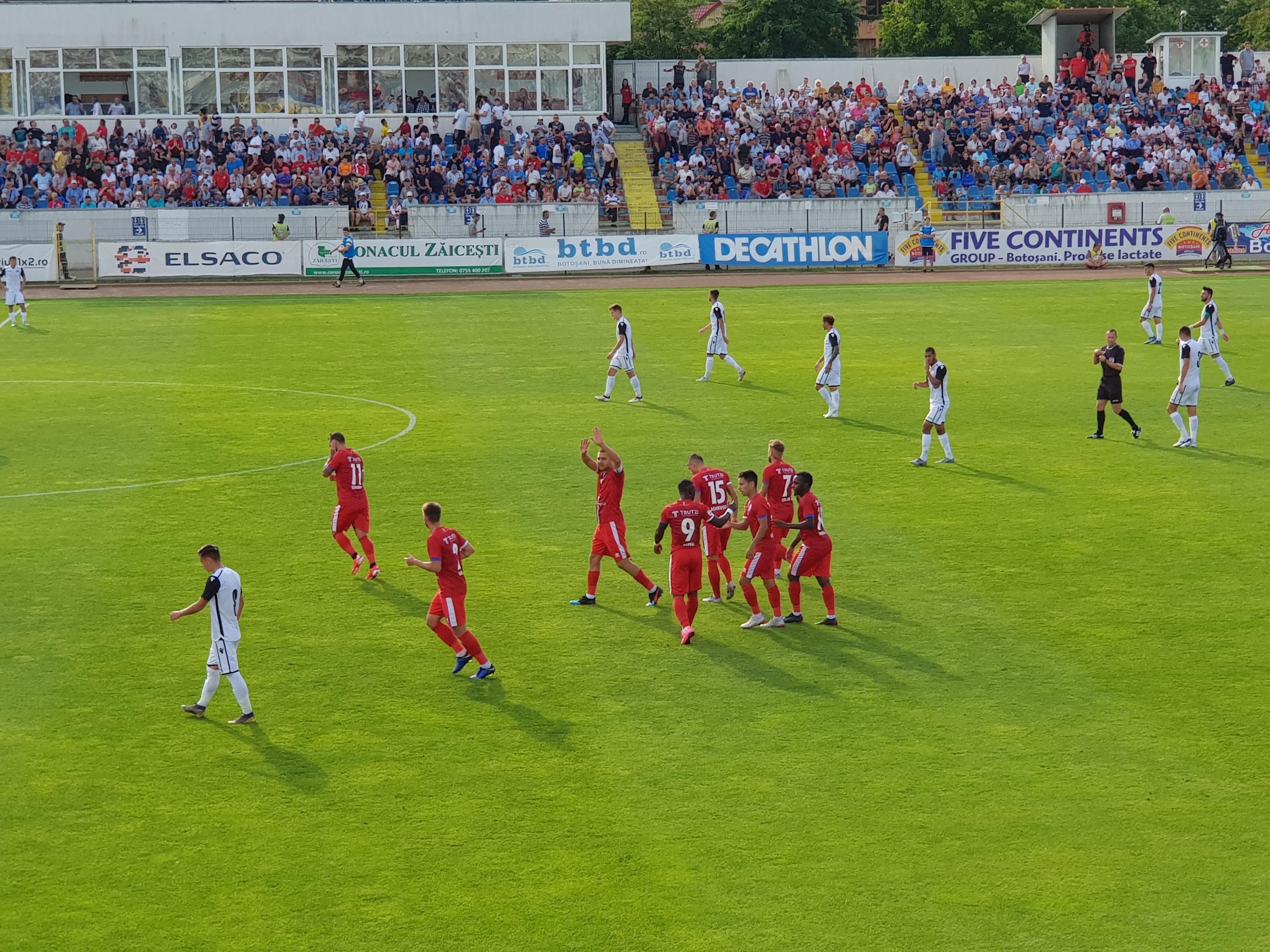 Botoșani – Voluntari 4-1. Victorie categorică a botosanenilor în fața propriilor suporteri