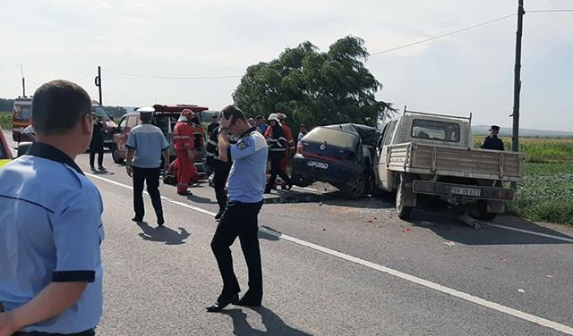 Grav accident de circulație la Hutani. Un tânăr de 23 de ani mort în urma impactului