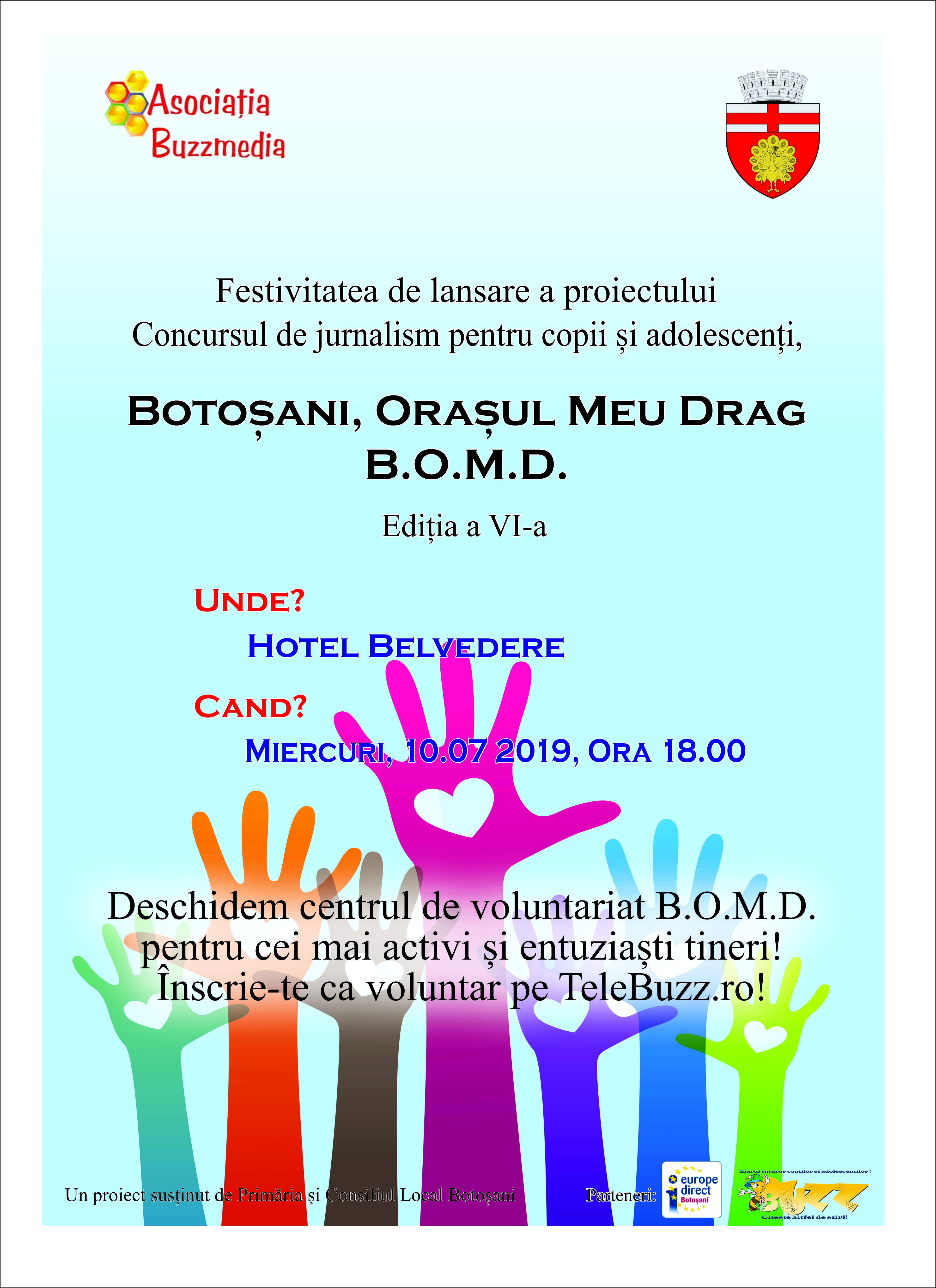 Se deschide centrul de voluntariat B.O.M.D!