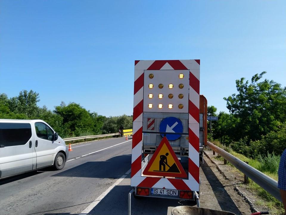 Graficul lucrărilor preconizate de DRDP IAȘI pe drumurile naționale luni, 01 iulie 2019