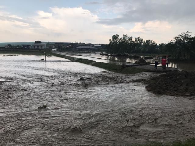 Cod galben de inundații în jud. Botoșani