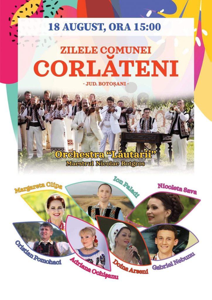 Regal folcloric la Corlateni, de Sărbătoarea Comunei