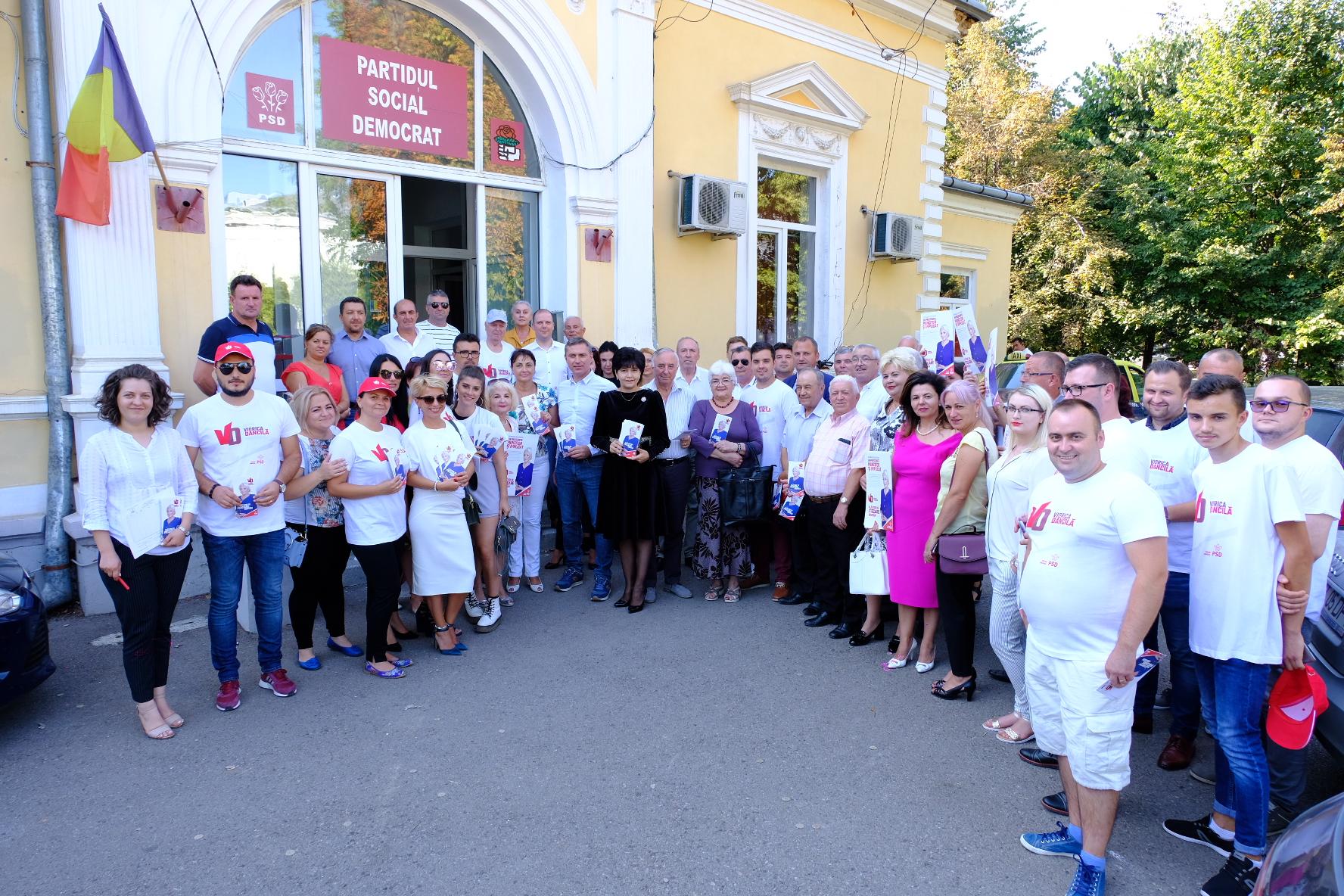 PSD la Botoșani:  Peste 40.000 de semnături pentru Viorica Dancila,  VIN de la Botoșani
