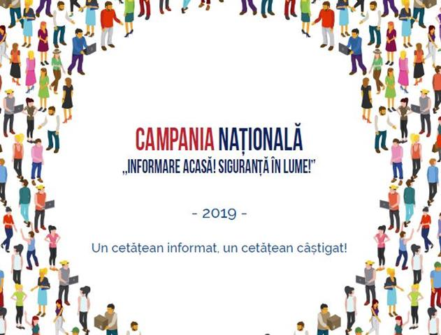 """Campania """"Informare acasă! Siguranţă în lume"""", ajunge din nou la Botoşani"""