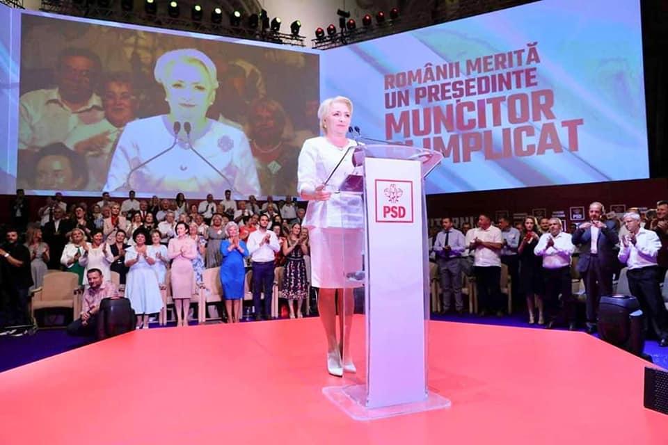 Congresul PSD. Viorica Dăncilă, desemnată oficial candidatul PSD la prezidențiale