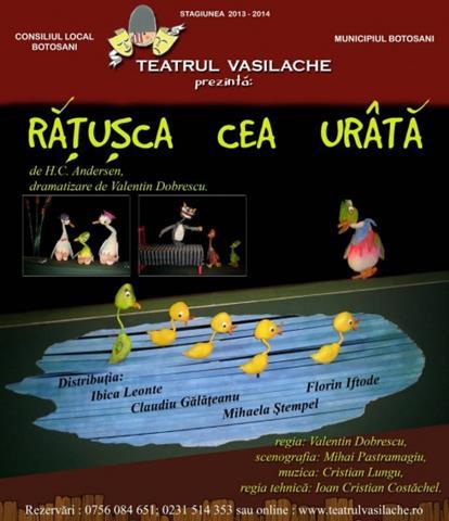 """Teatrul pentru Copii şi Tineret """"Vasilache"""" Botoşani va deschide stagiunea 2019-2020 în data de 8 septembrie 2019"""