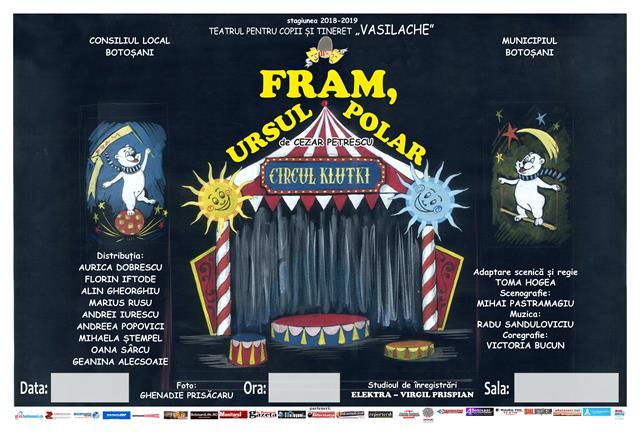 """""""Fram, ursul polar""""  la Teatrul pentru Copii și Tineret """"Vasilache"""""""
