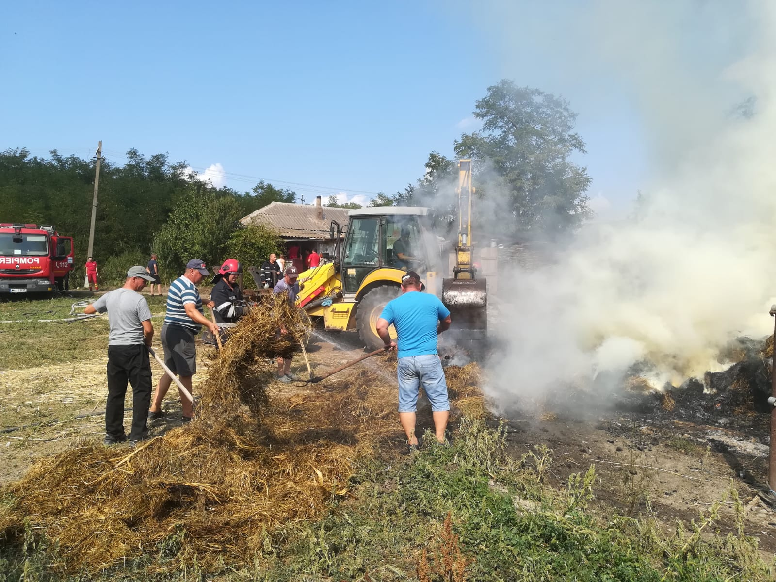 Incendiu de proporții în comuna Vlăsinești
