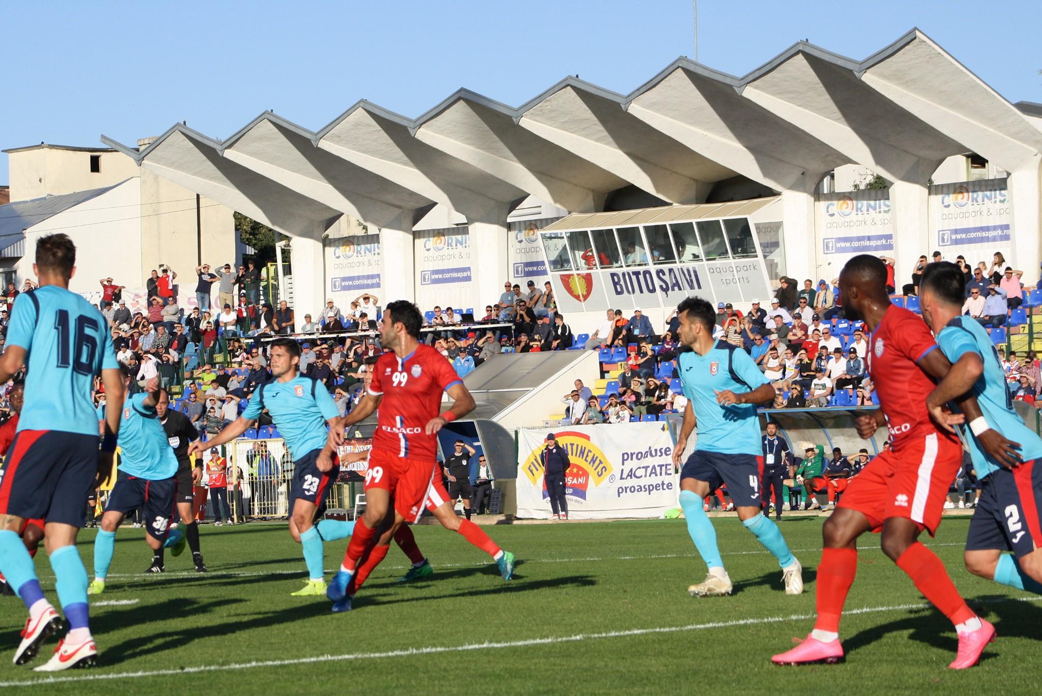 FC Botoșani – Chindia 0-3. Botoșanenii suferă una dintre cele mai dure înfrângeri pe teren propriu