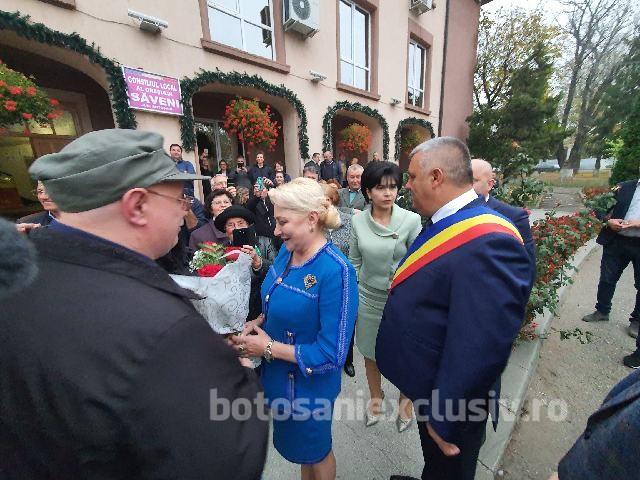 Acum: Viorica Dăncila a ajuns la Săveni