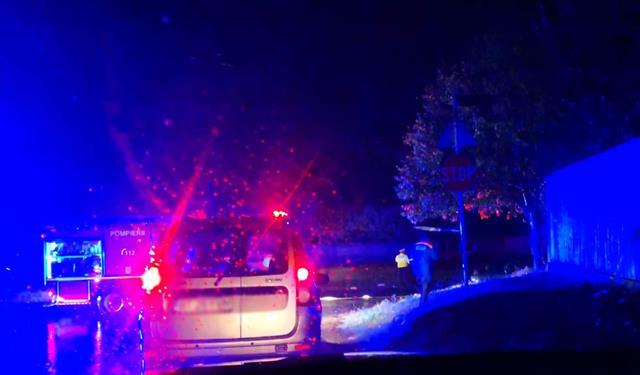 Accident rutier între Flamanzi și Frumușica.  Un autoturism în flăcări