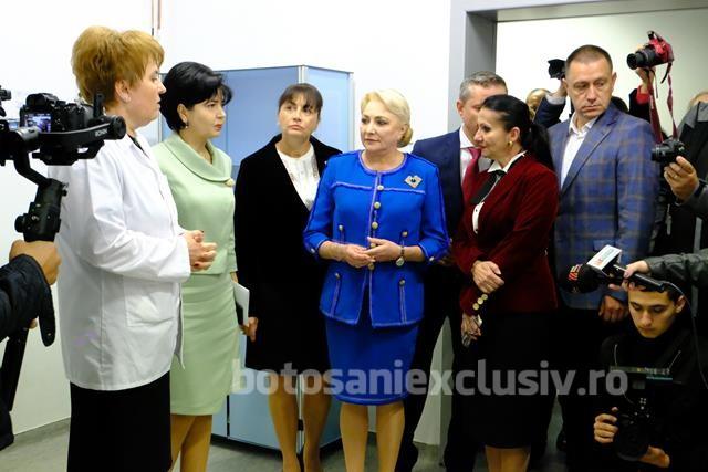 Viorica Dăncilă, vizită la Spitalul Județean Mavromati