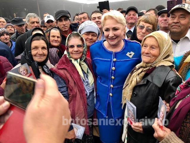 """Dăncilă la Botoșani: """"România nu trebuie să mai fie împărțită, nu trebuie să mai avem ură și dezbinare. Avem nevoie de oameni care iubesc această țară"""""""