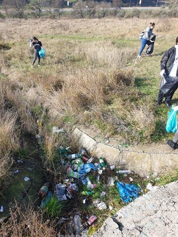 Tinerii voluntari de la Interact Botoșani au pornit la ecologizarea zonei Pacea