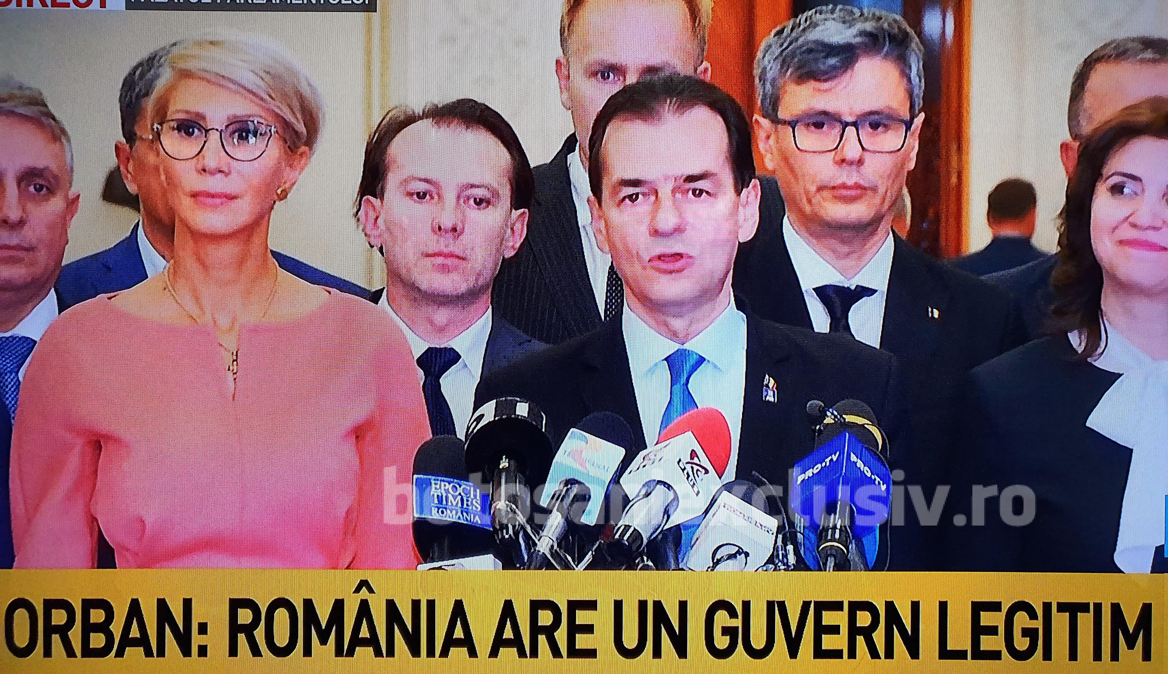 Declaratia lui Ludovic Orban, după învestirea Guvernului PNL