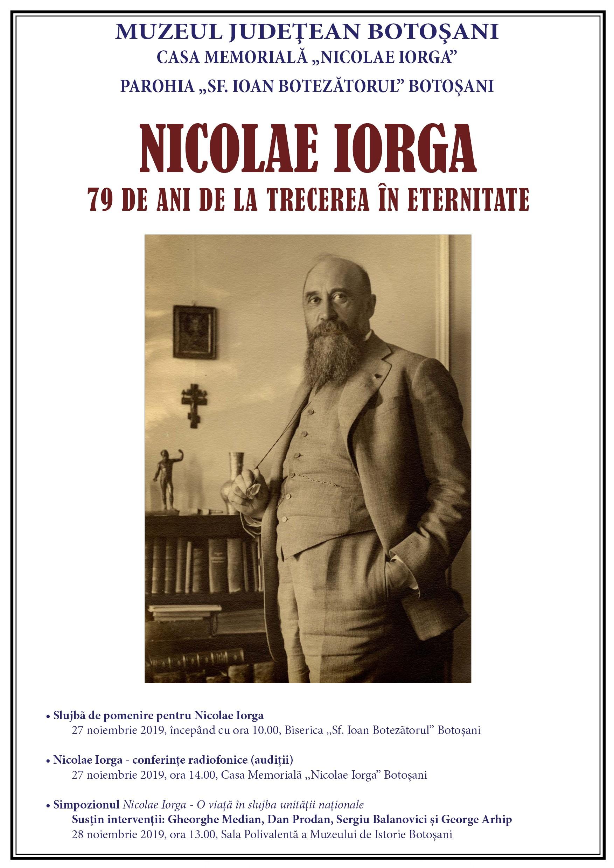 79 de ani de la trecerea în eternitate a lui Nicolae Iorga