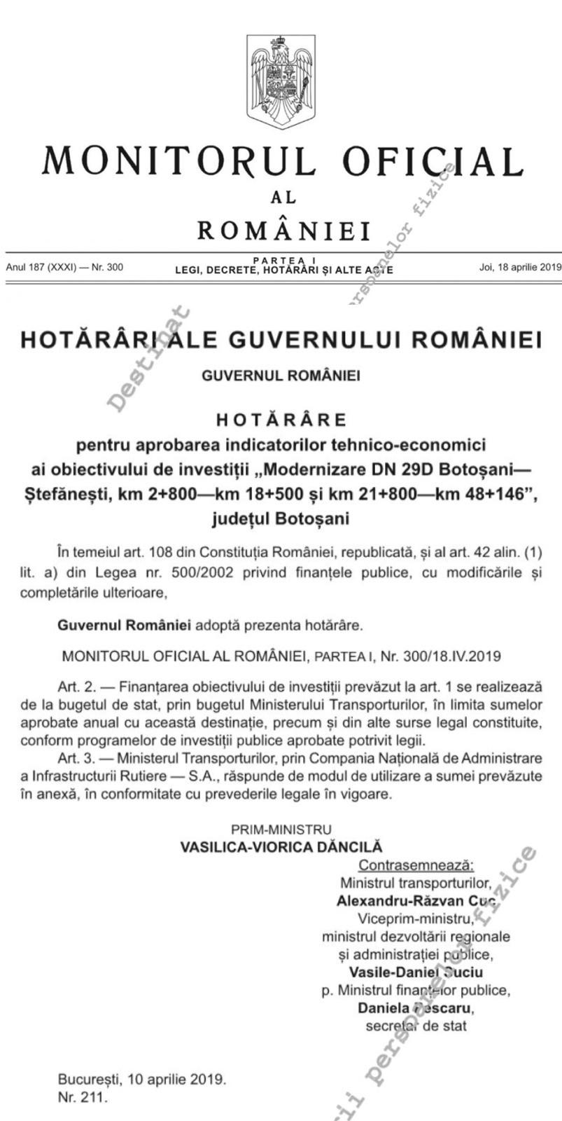 Ipocrizia liberalilor din Botoșani nu are limite! PSD prezintă dovada clară că drumul Botoșani-Ștefănești a primit finanțare și va fi modernizat datorită Guvernului Dăncilă