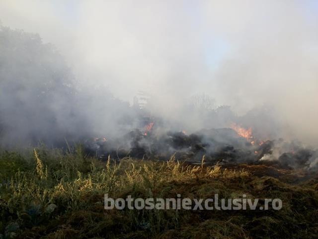 VORNICENI: Incendiu la un depozit furaje