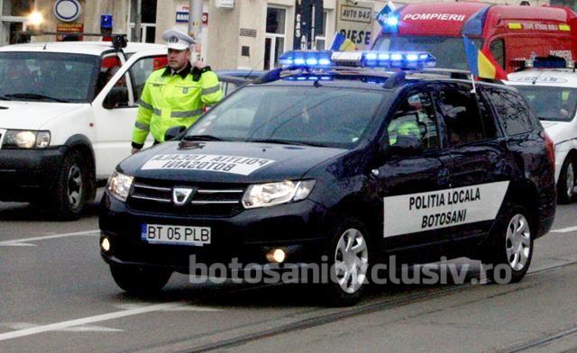 Polițiștii  locali au împărțit amenzi pentru parcări neregulamentare făcute pe timpul nopții