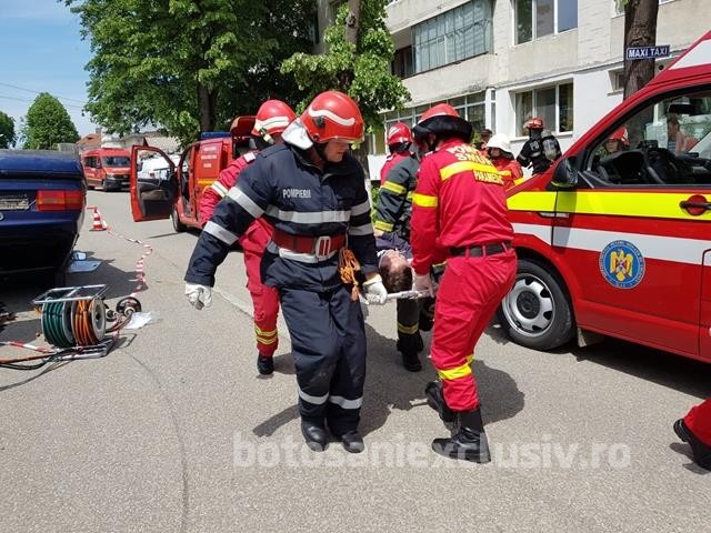 Exercițiu în domeniul situațiilor de urgență în zona industrială a municipiului Botoșani, pe 19 noiembrie