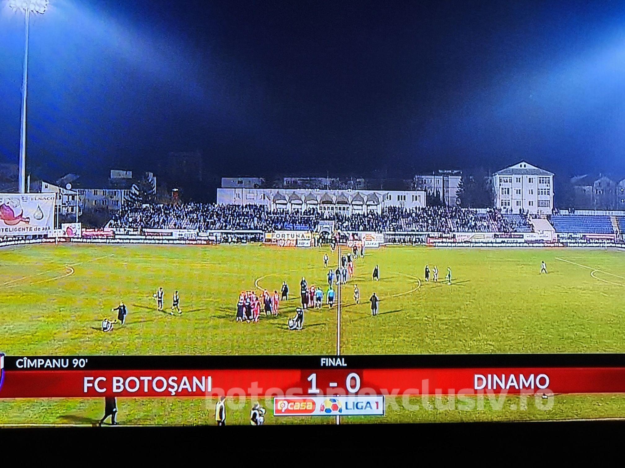 NEBUNIE pe Municipal!  FC Botoșani – Dinamo 1-0