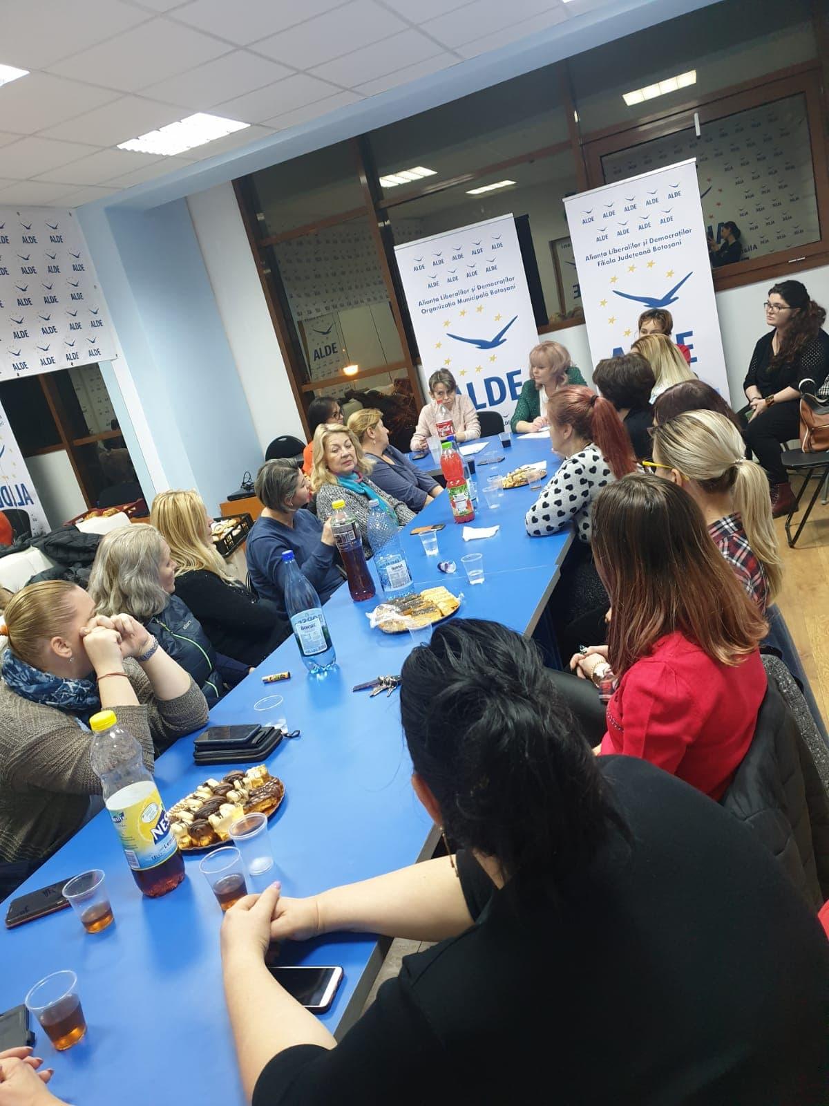 Organizația Municipală de Femei Liberale și Democrate Botoșani a finalizat constituirea Biroului Politic Municipal