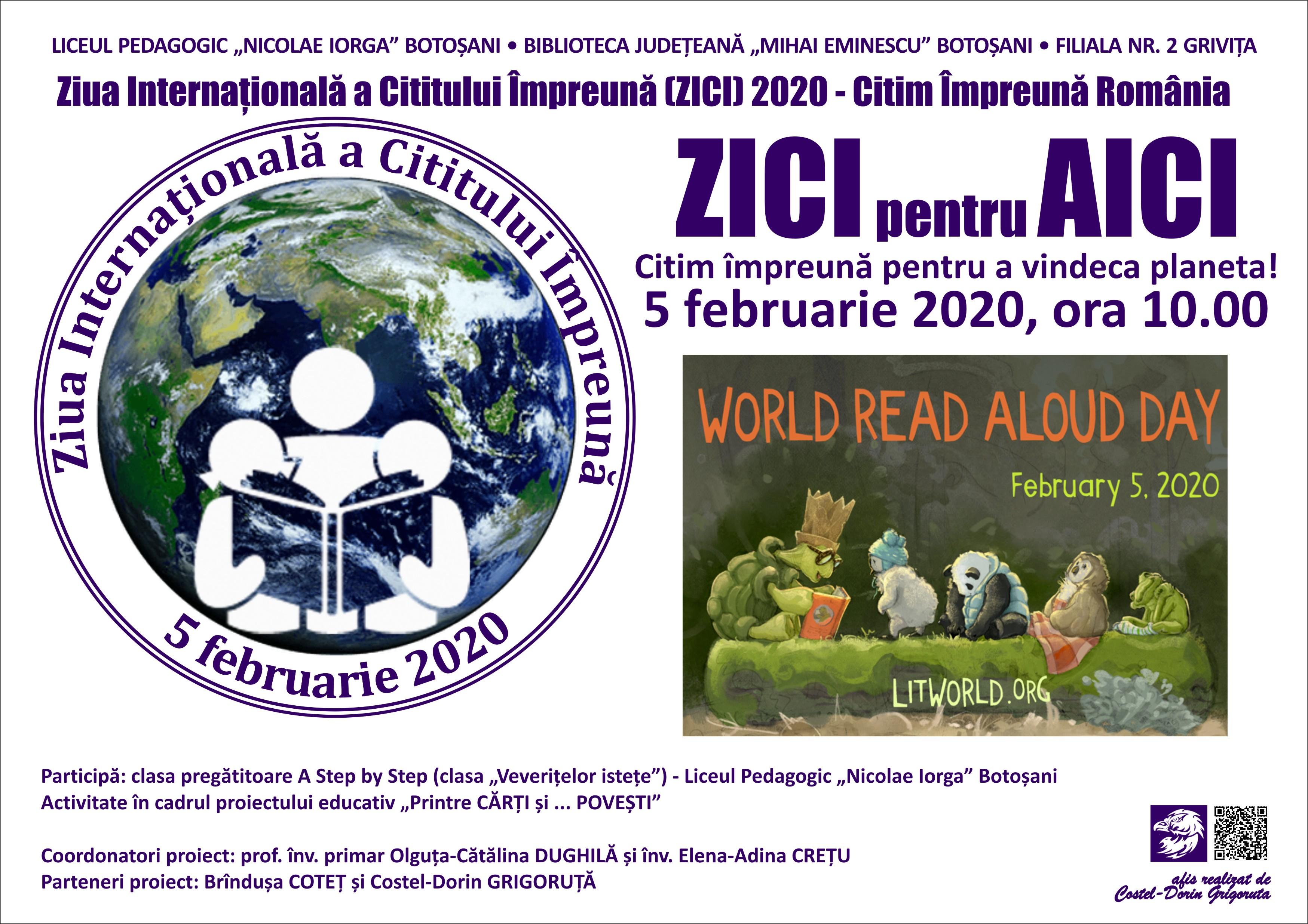 ZICI- Ziua Internațională a Cititului la Bibliotecă