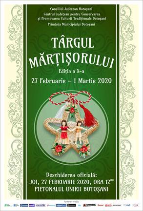 In perioada 27 februarie-1 Martie 2020 are loc ediția a X-a a Târgului Mărțișorului
