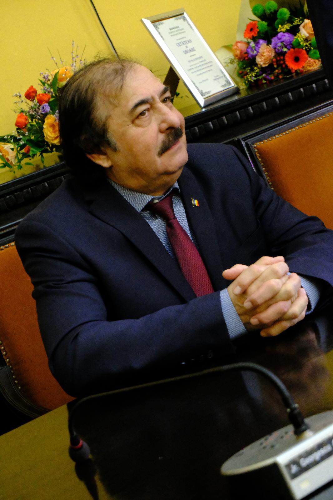 Nicolae Botgros a primit titlul de cetățean de onoare al municipiului Botoșani