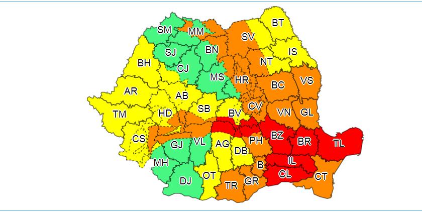 Cod GALBEN și PORTOCALIU de ninsori și viscol în Moldova. Cod ROȘU în sudul țării! Recomandările drumarilor pentru deplasarea pe vreme nefavorabilă!