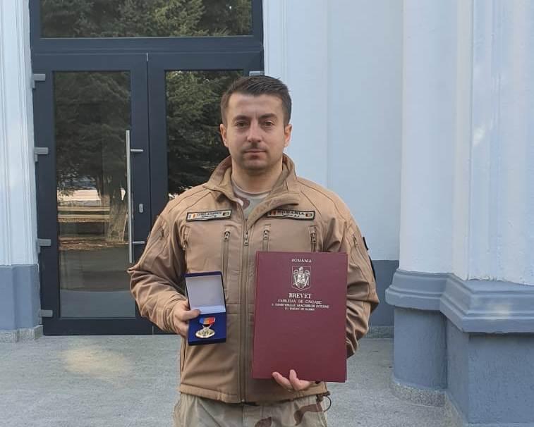 FOTO/Jandarm recompensat de U.S. Army