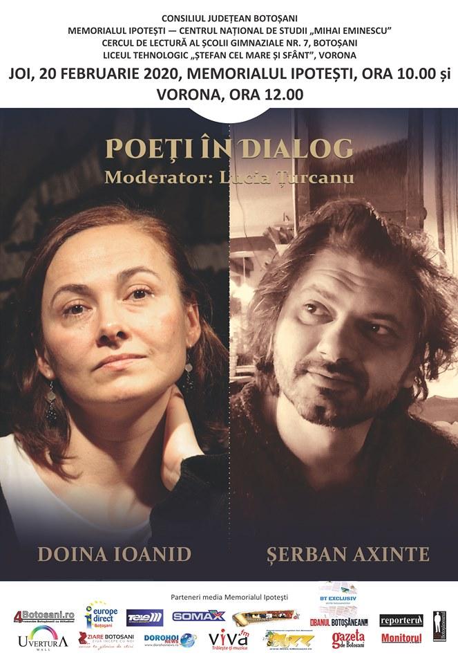 Poeți în dialog, la Memorialul Ipotești