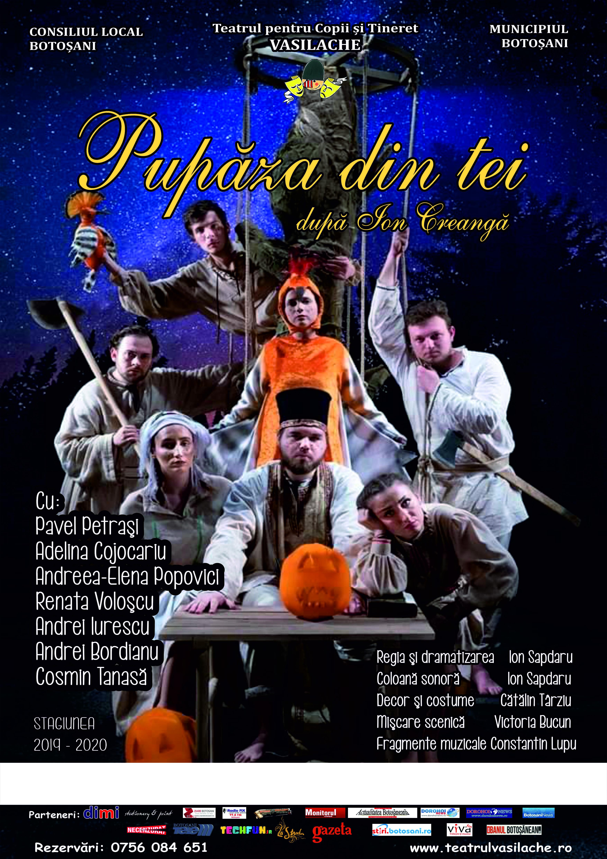 """Pupăza din tei, în premieră pe scena Teatrului """"Vasilache"""""""