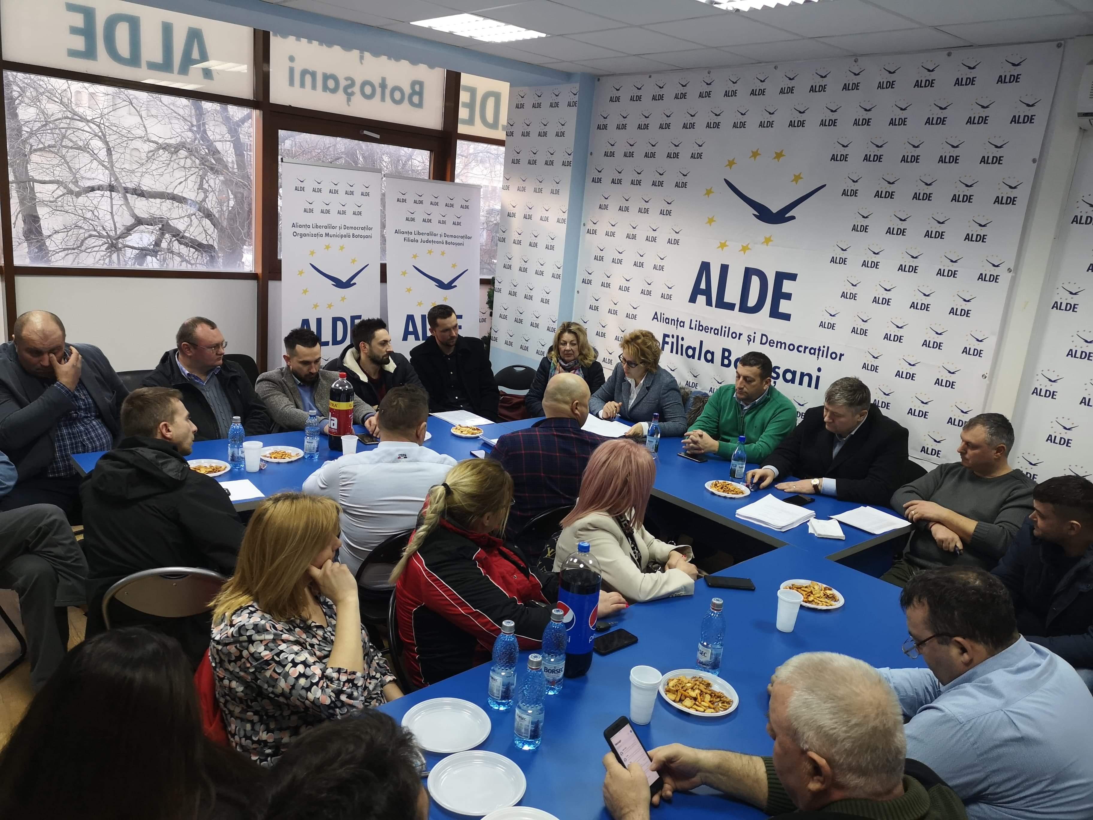 Filiala ALDE Botoșani intră în linie dreaptă