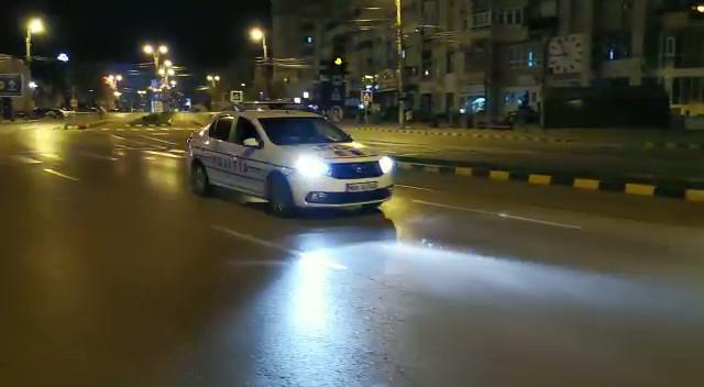 VIDEO/ Imnul României a răsunat prin megafoanele autospecialelor de poliție