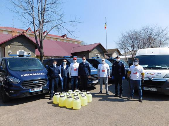Donație de 300 litri de dezinfectant concentrat JANDARMERIEI BOTOȘANI