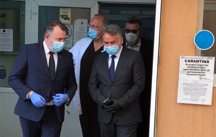 """VIDEO/ FOTO  Ministrul Sănătăţii, Nelu Tătaru: """"Există un risc foarte mare ca Botoșaniul să devină  a doua Suceava"""""""