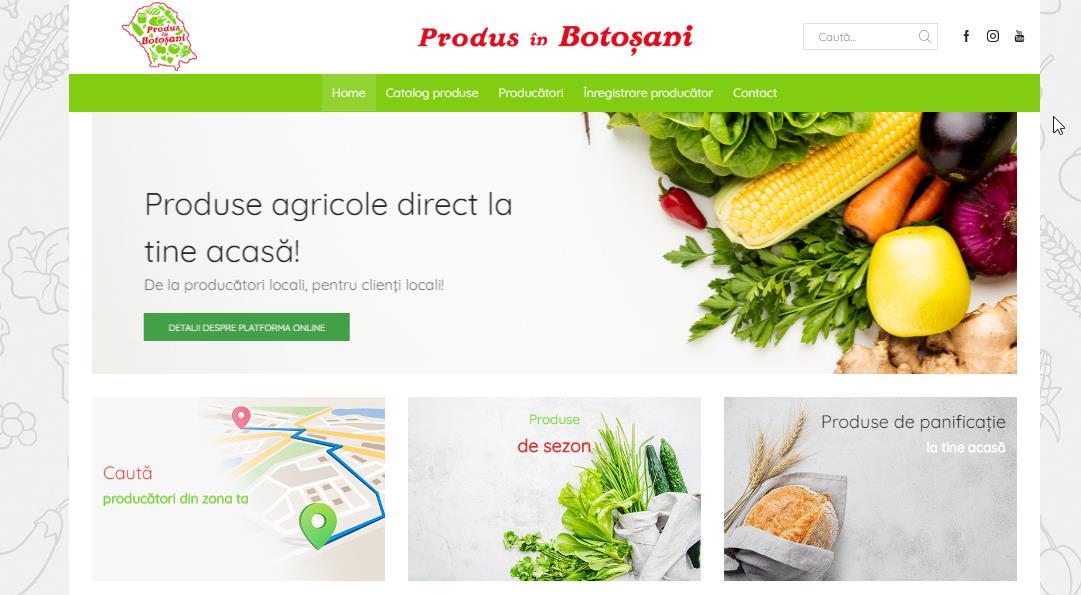De astăzi este disponibilă platforma online pentru producătorii locali