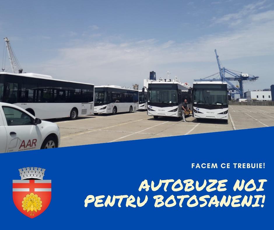 Autobuzele noi, care vor înlocui tramvaiele din Botoșani, au ajuns în Portul Constanța