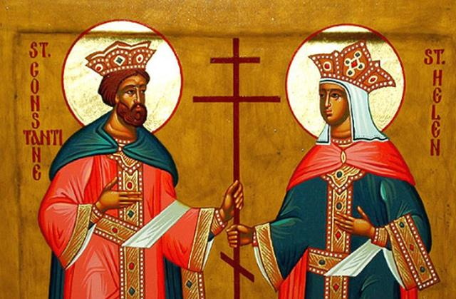 CALENDAR:  Astăzi credincioşii ortodocşi şi catolici îi sărbătoresc pe Sfinţii Împăraţi  Constantin şi Elena